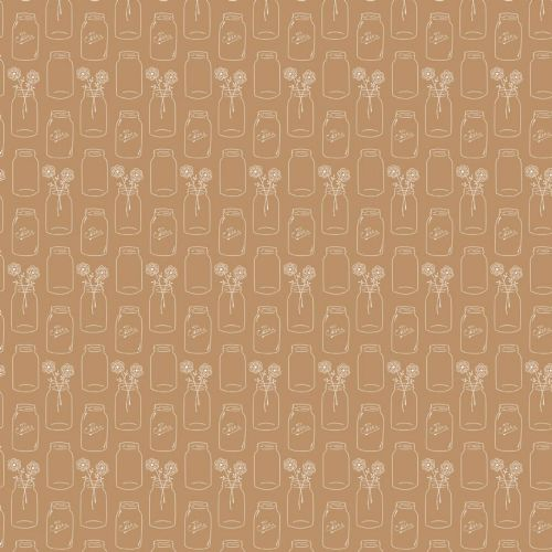 Riley Blake - Modern Minis Jars (Brown) Fabric